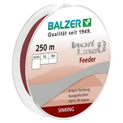 Balzer Fishing Line Iron Line Feeder (dark red, 250 m)