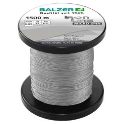 Balzer Fishing Line Iron Line Micro Spin (grey, 1.500 m)