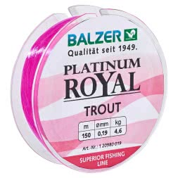 Balzer fishing line Platinum Royal Trout (pink)