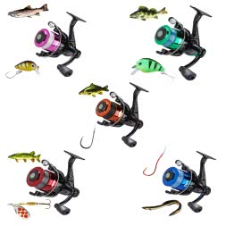 Balzer target fishing reel Spezi 1000 (spooled, various sets)