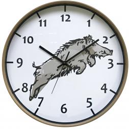 Bearstep Wall Clock Boar (round)