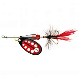 Cormoran BULLET Spinner - black/red with fly
