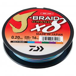 Daiwa fishing line J-Braid Grand X8 (multi-color, 300 m)