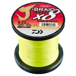 Daiwa Fishing Line J-Braid Grand X8 (yellow, 1.350 m)