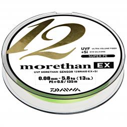 Daiwa Fishing Line Morethan 12 Braid EX + SI (lime green, 135 m)