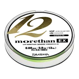 Daiwa Fishing Line Morethan 12 Braid EX + SI (lime green, 300 m)