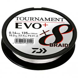 Daiwa Fishing Line Tournament X8 Braid EVO+ (270 m, chartreuse)