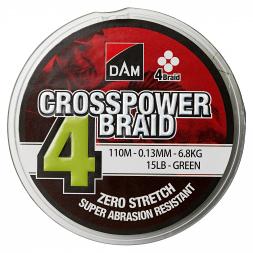 DAM® Fishing Line Crosspower 4-Braids (green, 300 m)