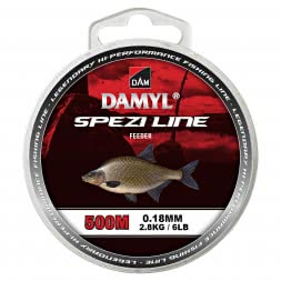 DAM Fishing Line Damyl Spezi Feeder (dark brown, 500 m)