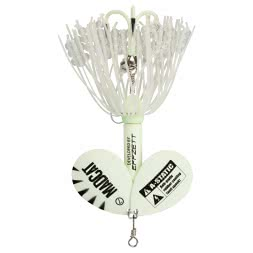 DAM MADCAT A-Static Rattlin' Teaser Spinners Soft Plastic Bait, glow in the dark