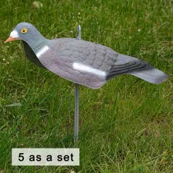 Decoy-pigeon Half Mold (5 as a set)