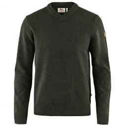 Fjäll Räven Men's Knitted Sweater V-Neck M Övik