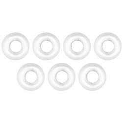 FTM Omura Tungsten beads (round hole, white)