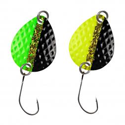 FTM Trout Spoon Bilg (1.7 g, Green-Black/UV Yellow-Black)