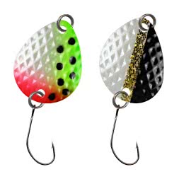 FTM Trout Spoon Bilg (1.7 g, Rainbow/Black-White)