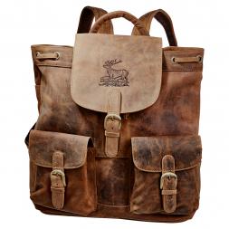 Greenburry Vintage Flapzipt Backpack (Leather)
