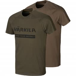 Härkila Men's T-Shirt Logo (Pack of 2)