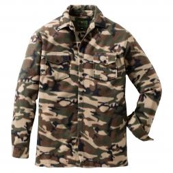 il Lago Basic Men's Fleece Shirt Nandu (Camouflage)