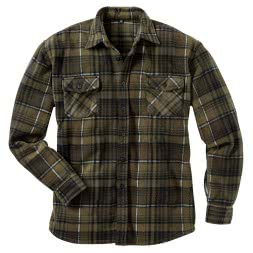 il Lago Prestige Men's Fleece Lumberjack Shirt VALLEY