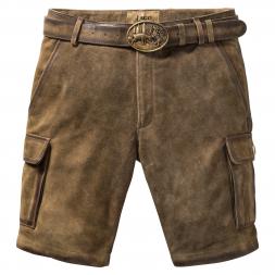 il Lago Prestige Men's Leather Shorts SEEFELD