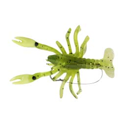 Kogha Creature Bait Crayfish Lure (chartreuse/glitter)