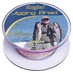Kogha Fishing Line Jigging Braid (multicolor, 300 m)