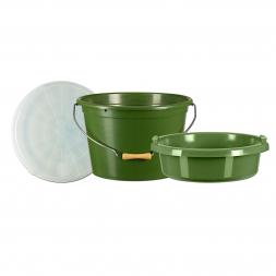 Kogha Set: Feed Bucket 25l + Lid + 8l Tray