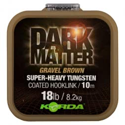 Korda Fishing Line Dark Matter Tungsten Coated Braid (Gravel Brown)