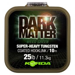 Korda Fishing Line Dark Matter Tungsten Coated Braid (Weed Green)