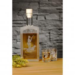 Liqueur Bottle with 2 Shot Glasses