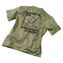 "Men's Fishing T-Shirt ""Angelst Du nur ... """