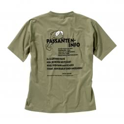 "Men's Fishing T-Shirt ""Passanten-Info"""