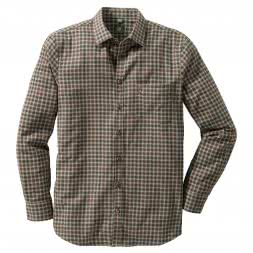OS Trachten checked long sleeve shirt