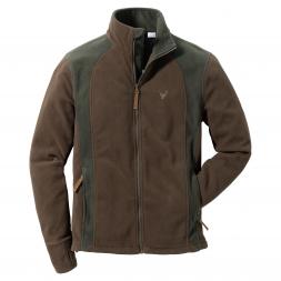 OS Trachten Men's Fleece Jacket STAG