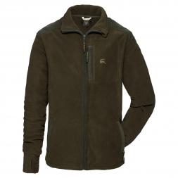 OS Trachten Men's Fleece Jacket with Embroidery