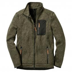 OS Trachten Men's Knitted Fleece Jacket