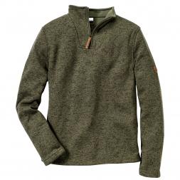 OS Trachten Men's Knitted Fleece Troyer