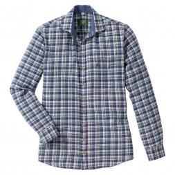 OS Trachten Men's Longsleeve Flannel Shirt