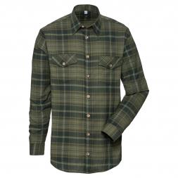 OS Trachten Men's Longsleeve Shirt (dark green striped)