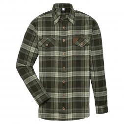 OS Trachten Men's Longsleeve Shirt Flannel (olive striped)