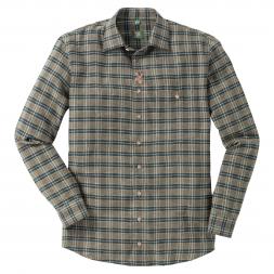 OS Trachten Men's Longsleeve Shirt Flannel