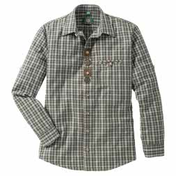 OS Trachten Men's Longsleeve Shirt Regular Fit