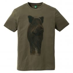OS Trachten Men's T-Shirt WILD BOAR
