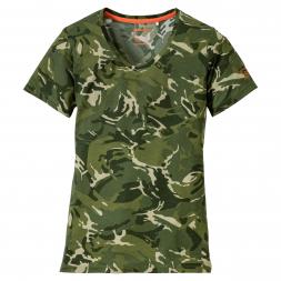 OS Trachten Women's Functional T-Shirt (camo green)