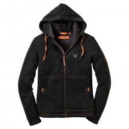 OS Trachten Women's Knitted Fleece Jacket (anthracite)