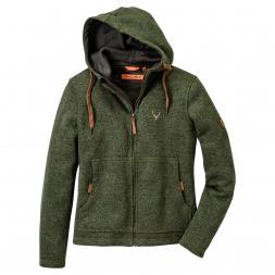 OS Trachten Women's Knitted Fleece Jacket (green)