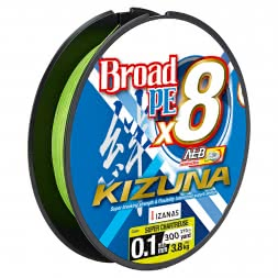 Owner High Performance Fishing Line Kizuna 8-Braid (chartreuse, 270 m)
