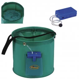 Perca Original live Bait Bucket and Air Pump as a Set