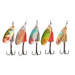 Perca Original Spinner Set Natural Bell Trout