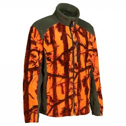 Percussion Men's Fleece Jacket STRONGER (Ghostcamou Blaze)